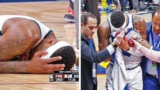Torrey Craig NASTY Broken Nose Injury During Blazers/Nuggets Game 2
