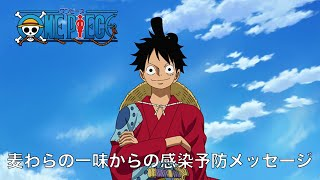 """TVアニメ「ONE PIECE」麦わらの一味からの感染予防メッセージ Important message from the """"One Piece"""" Straw Hats"""