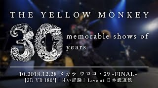THE YELLOW MONKEY –【3D VR 180°】2018.12.28 メカラ ウロコ・29 -FINAL-「甘い経験」Live at 日本武道館