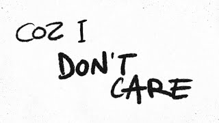Ed Sheeran と Justin Bieber - I Don't Care [Official Lyric Video]