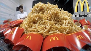 【10㎏】Unbelievable biggest Mc Donald's potato mountain