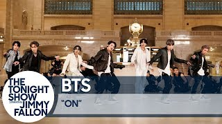 """BTS Performs""""ON"""" at Grand Central Terminal for The Tonight Show"""