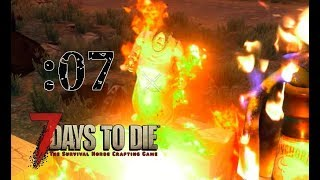 【7 Days to Die】崩れ落ちる拠点?!フェラルホード到来:07