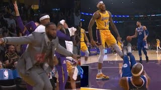 LeBron James Goes Crazy After Brandon Ingram Murders Corey Brewer With Show-Time LA!
