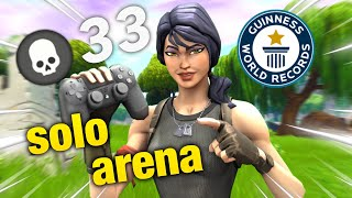 ソロアリーナ33キルPAD世界記録更新 / SOLO ARENA 33KILLS 【controller on pc】【New record】【SeasonX】【Fortnite】